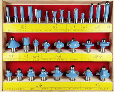 WL-2010 PROFESSIONAL ROUTER BIT 30pc SET