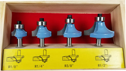 WL 2024 ROUNDOVER ROUTER BIT 4pc 1/4″ Shank SET