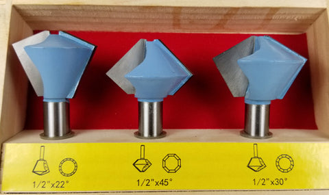 BIRDSMOUTH ROUTER BIT 3pc SET WL 2045