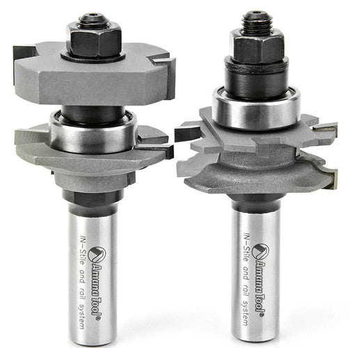 IN-STILE ADJUSTABLE RAIL & STILE ROUTER BIT SETS