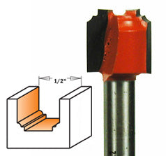 "Plunging Molding Router Bit 865.101.11 Classic Bead 3/64"" Radius, 1/2"" Dia, 1/2"" Cut Length, 1/4"" Shank CMT"