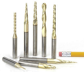 AMS-136 CNC 2D/3D CARVING TAPERED BALL NOSE SET