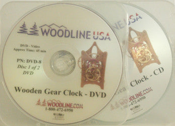 DVD8 WOODEN GEAR CLOCK DVD/CD