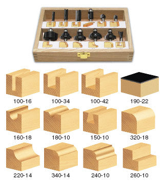 TRS-120 GENERAL PURPOSE ROUTER BIT SET