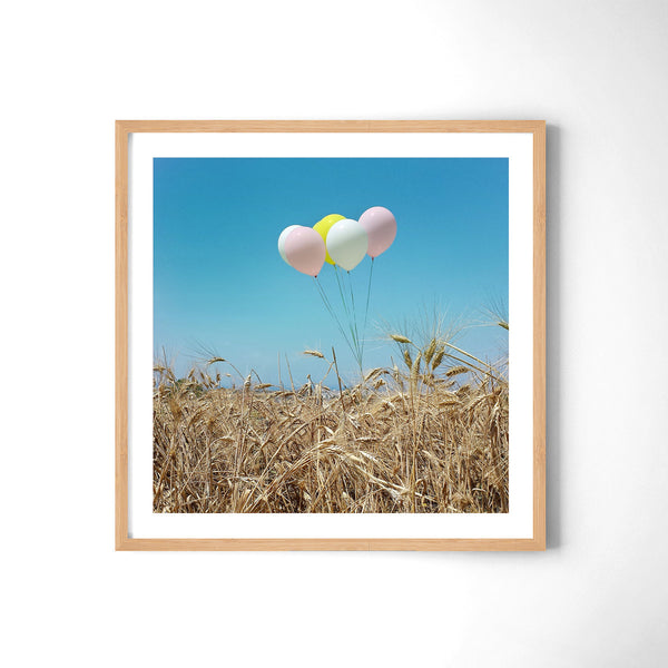 Balloons In The Field - Art Prints by Post Collective - 3