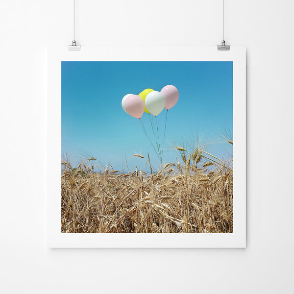 Balloons In The Field - Art Prints by Post Collective - 2