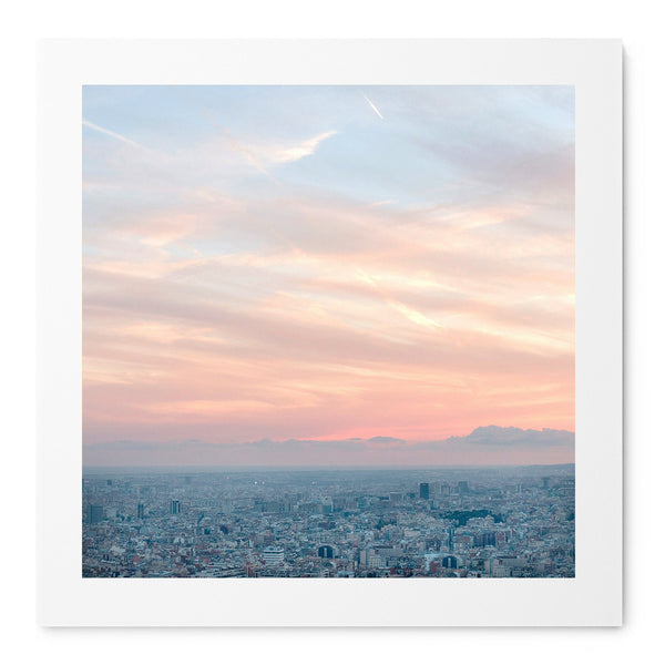 Barcelona From The Heights - Art Prints by Post Collective - 1