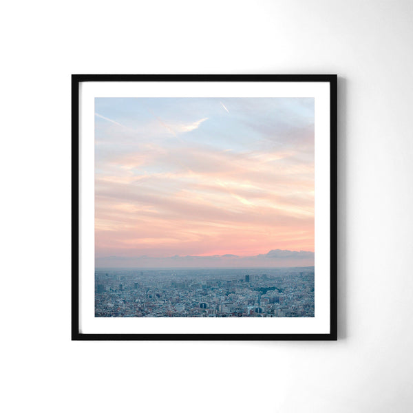 Barcelona From The Heights - Art Prints by Post Collective - 2