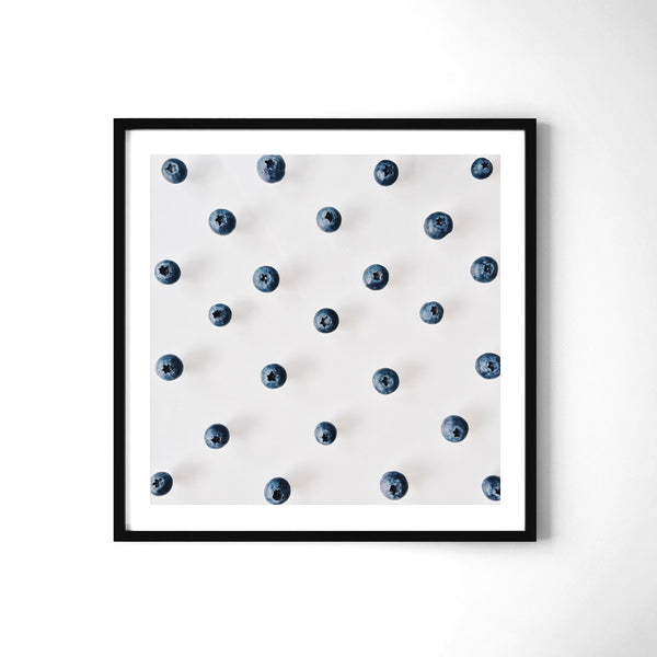 Blueberries Pattern - Art Prints by Post Collective - 2