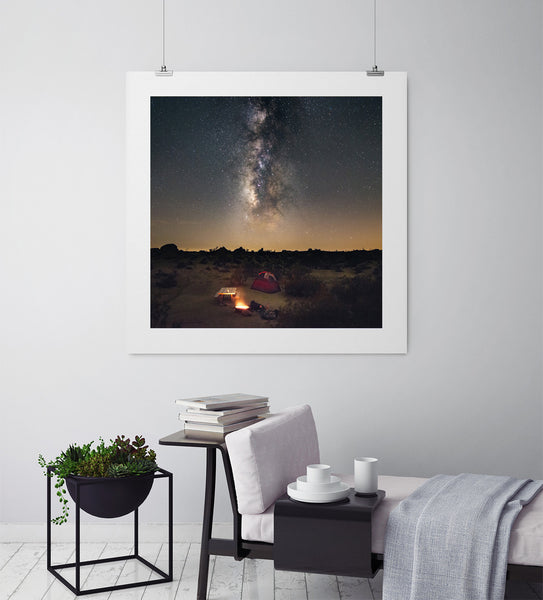 Camping Under The Milky Way - Art Prints by Post Collective - 3