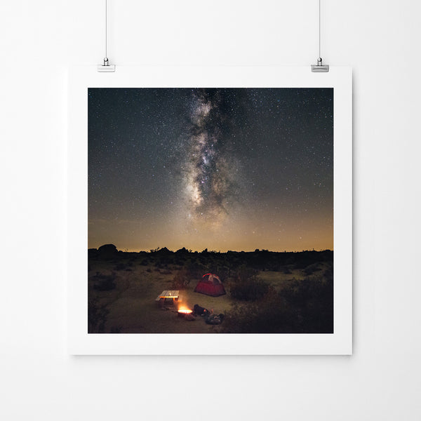 Camping Under The Milky Way - Art Prints by Post Collective - 2