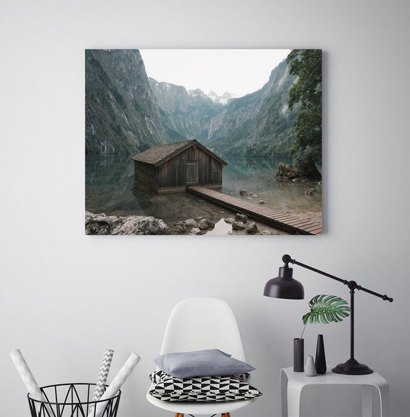 Classic Lakeside Cabin - Art Prints by Post Collective - 3