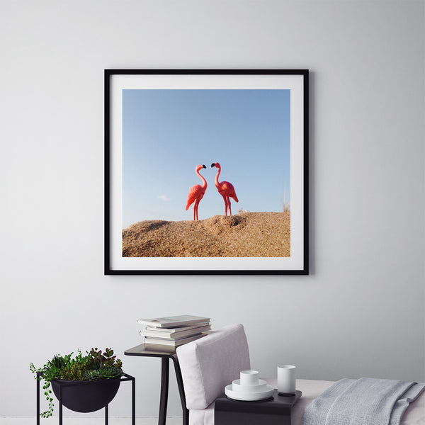 Flamingo's Love - Art Prints by Post Collective - 5
