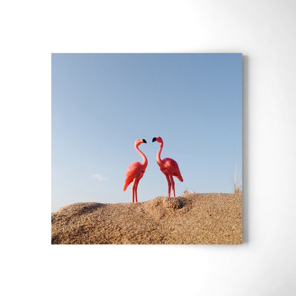 Flamingo's Love - Art Prints by Post Collective - 2