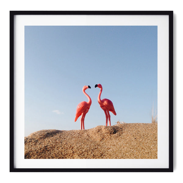 Flamingo's Love - Art Prints by Post Collective - 1