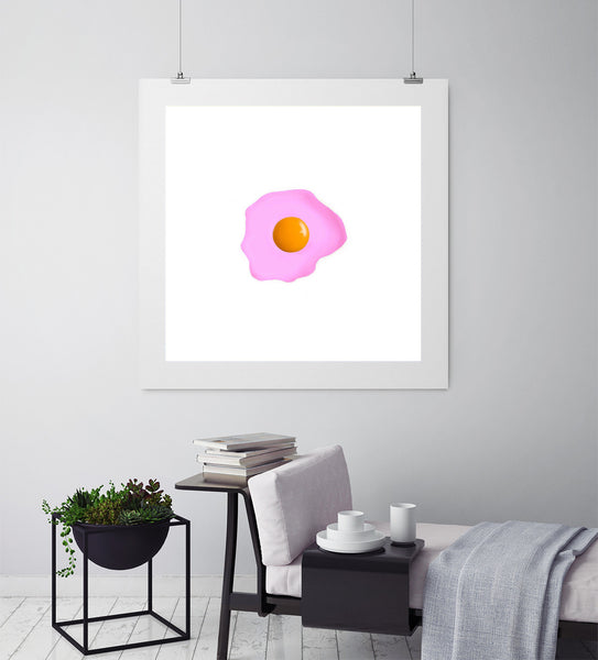 Fried Egg Pink - Art Prints by Post Collective - 3
