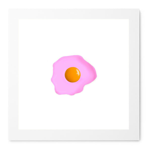Fried Egg Pink - Art Prints by Post Collective - 1