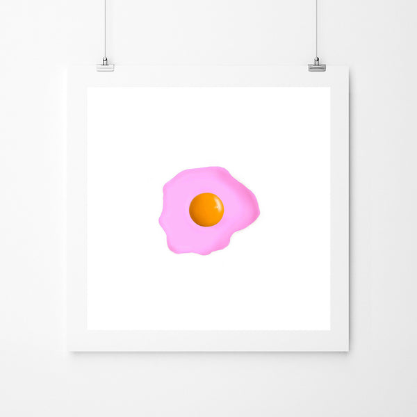 Fried Egg Pink - Art Prints by Post Collective - 2