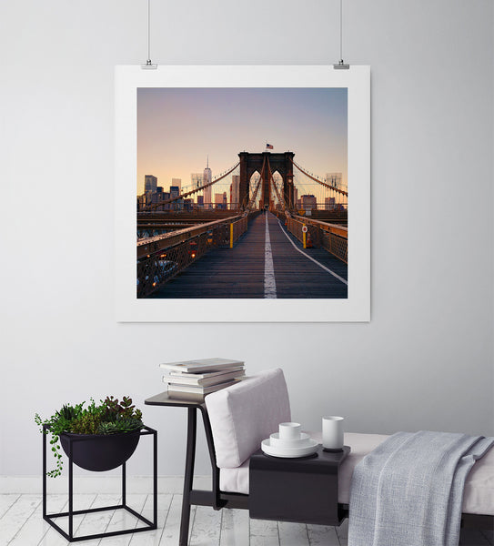 Just Me and The Brooklyn Bridge - Art Prints by Post Collective - 3