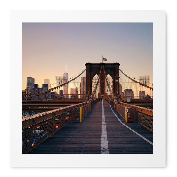 Just Me and The Brooklyn Bridge - Art Prints by Post Collective - 1