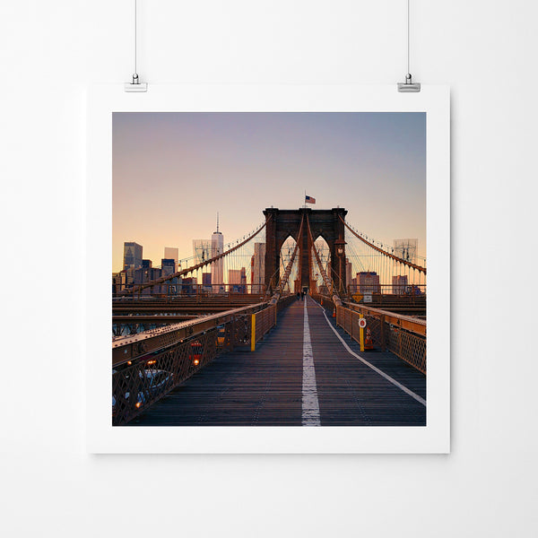 Just Me and The Brooklyn Bridge - Art Prints by Post Collective - 2