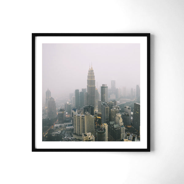 Kuala Lumpur In The Clouds - Art Prints by Post Collective - 2