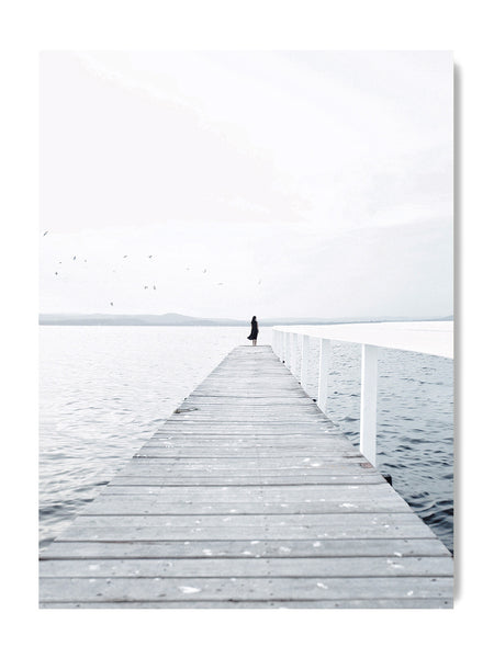 Lonely Jetty - Art Prints by Post Collective - 1