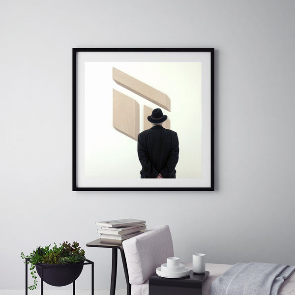 Man In A Hat At Tate Modern - Art Prints by Post Collective - 5