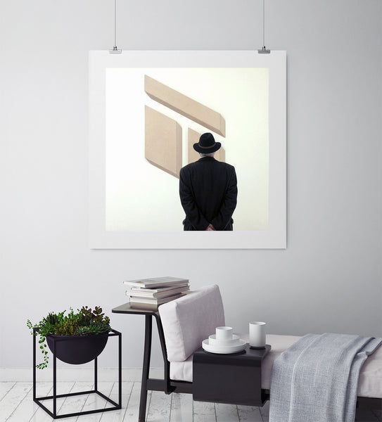 Man In A Hat At Tate Modern - Art Prints by Post Collective - 3