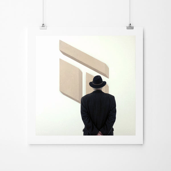 Man In A Hat At Tate Modern - Art Prints by Post Collective - 2