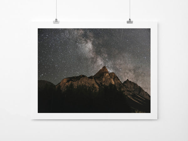 Milkyway Over Mountains - Art Prints by Post Collective - 2