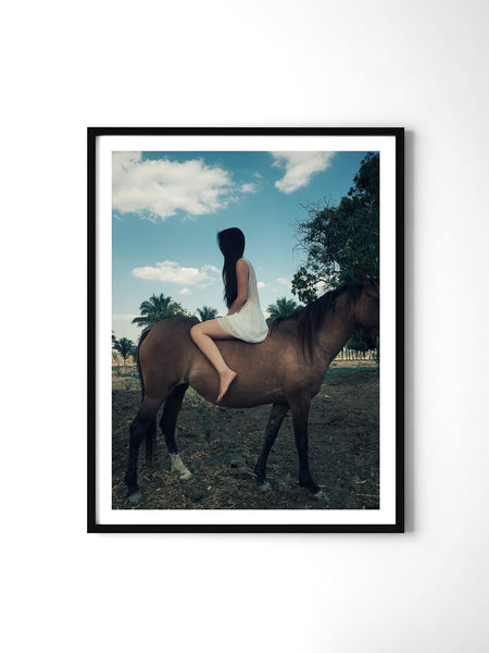 Mysterious Girl - Art Prints by Post Collective - 2