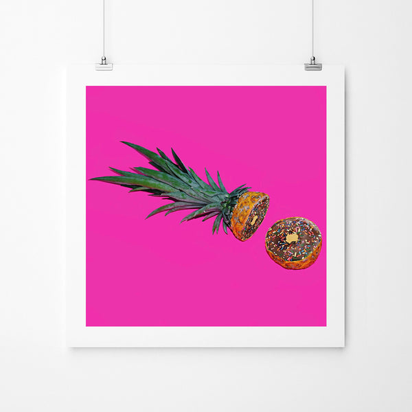 Pineapple Donuts - Art Prints by Post Collective - 2