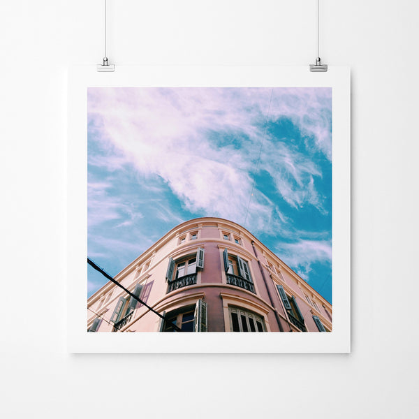 Pink vs. The Sky - Art Prints by Post Collective - 2