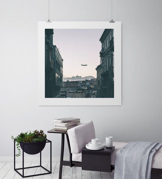 Plane Watching In Lisbon - Art Prints by Post Collective - 3