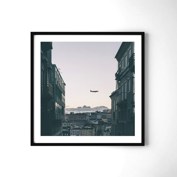 Plane Watching In Lisbon - Art Prints by Post Collective - 2