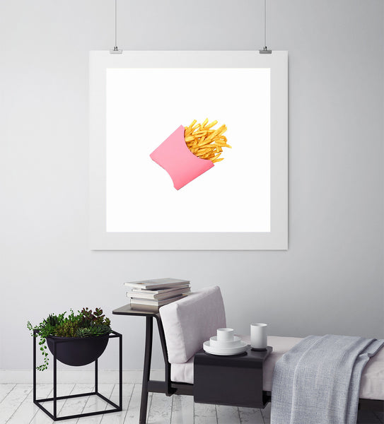 Potato Chips Pink - Art Prints by Post Collective - 3