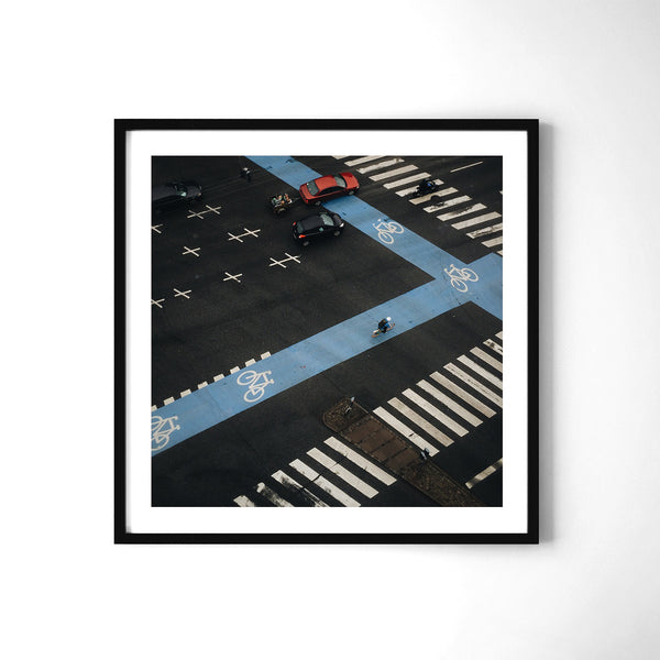 Rush Hour Traffic in Copenhagen - Art Prints by Post Collective - 2