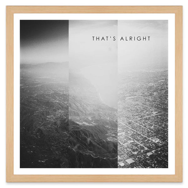 Thats Alright - 40x40cm - Art Prints by Post Collective