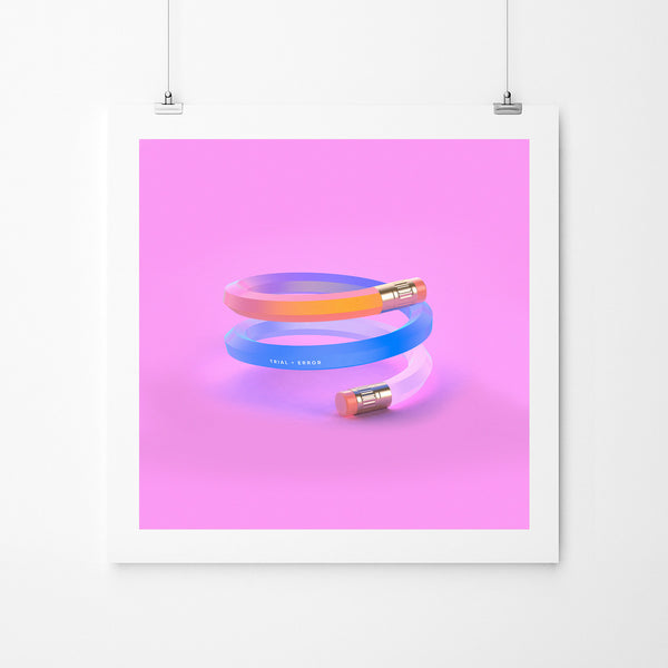 Trial And Error - Art Prints by Post Collective - 4