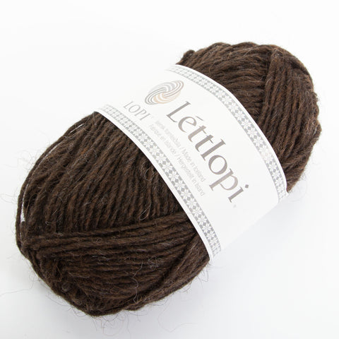 Létt Lopi - Icelandic Wool Yarn - 0867 - dökkmórauður/chocolate heather