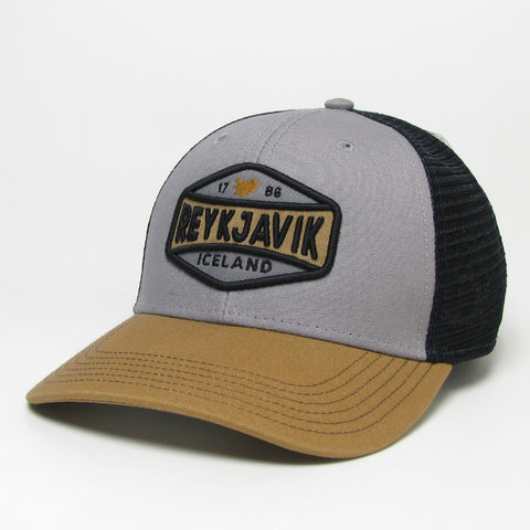 Trucker Cap - Reykjavik Midst - Gray/Caramel/Black