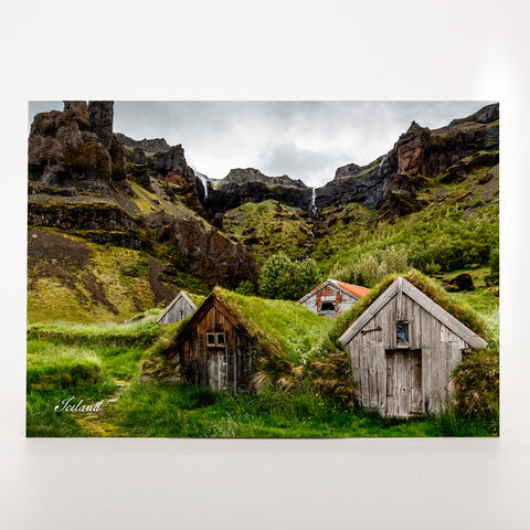 Picture Postcard - Turf Houses