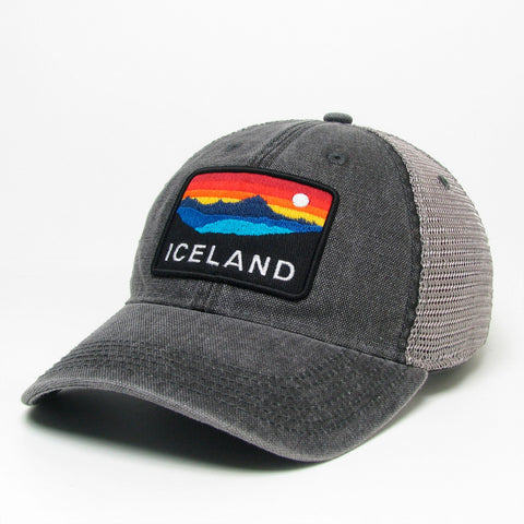 Trucker Dashboard Cap - Iceland Horizon - Black/Grey