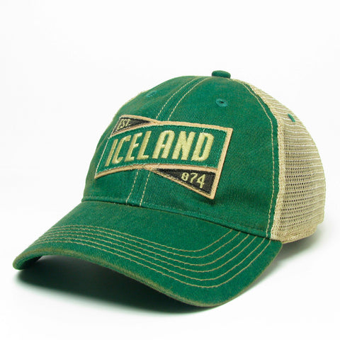 Old Favorite Trucker Cap - Iceland X - Green/Kelly Green