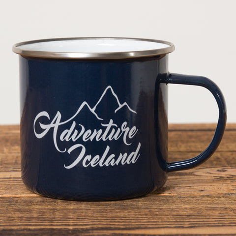 Adventure Iceland - Camping Mug - Dark Blue