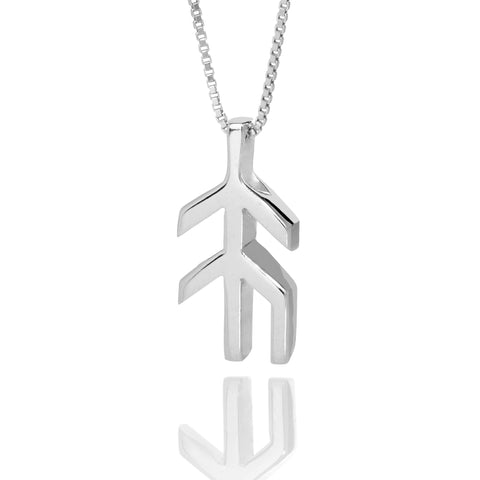 Alrun - Silver Bindrune - Necklace - Hope