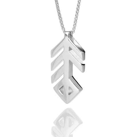 Alrun - Silver Bindrune - Necklace - Music