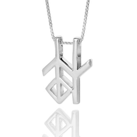 Alrun - Silver Bindrune - Necklace - Wisdom
