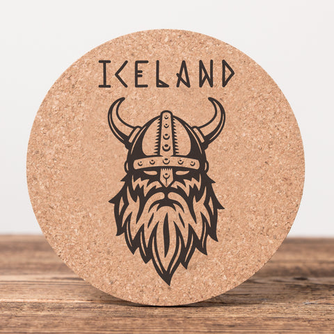 Viking Iceland - Set of 6 Cork Coasters